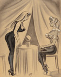 Mainstream Illustration, Bill Ward (American, 1919-1998). We Better Hurry!. Charcoaland conte crayon on paper. 20.5 x 16.5 in.. Signed lower cen...