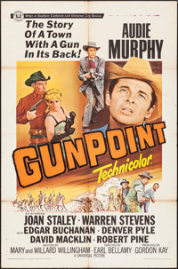 """Gunpoint & Others Lot (Universal, 1966). One Sheet & Military One Sheets (2) (27"""" X 41""""). Western..."""