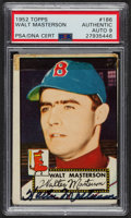 Autographs:Sports Cards, Signed 1952 Topps #186 Walt Masterson PSA/DNA Auto Grade Mint 9....