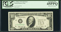 Error Notes:Obstruction Errors, Partially Obstructed Printing of Right Serial Number and Treasury Seal Error Fr. 2022-F $10 1974 Federal Reserve Note. PCGS Ex...