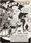Original Comic Art:Splash Pages, Joe Shuster and John Sikela Funnyman