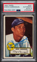 Autographs:Sports Cards, Signed 1952 Topps #251 Chico Carrasquel PSA/DNA Auto Grade Mint 9....