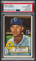 Autographs:Sports Cards, Signed 1952 Topps #254 Joe Dobson PSA/DNA Auto Grade NM-MT 8. ...