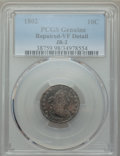 Early Dimes, 1802 10C JR-2, R.5 -- Repaired -- PCGS Genuine. VF Details....