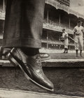 Photographs, Grancel Fitz (American, 1894-1963). Shoe Ad and New York Yankees, circa 1930-1949. Gelatin silver. 14-1/4 x 12 inches (3...