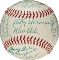Baseball Collectibles:Balls, 1955 Brooklyn Dodgers Team Signed Baseball, PSA/DNA NM-MT 8.. ...