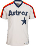 Baseball Collectibles:Uniforms, 1981 Nolan Ryan Game Worn Houston Astros Jersey Sourced from Team Executive, Rare Style, MEARS A10. . ...