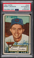 Autographs:Sports Cards, Signed 1952 Topps #322 Randy Jackson PSA/DNA Auto Grade Mint 9. ...