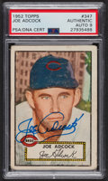Autographs:Sports Cards, Signed 1952 Topps #347 Joe Adcock PSA/DNA Auto Grade Mint 9. ...