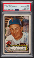 Autographs:Sports Cards, Signed 1952 Topps #364 Clyde Sukeforth PSA/DNA Auto Grade Mint 9. ...