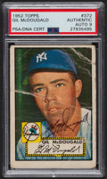 Autographs:Sports Cards, Signed 1952 Topps #372 Gil McDougald PSA/DNA Auto Grade Mint 9. ...