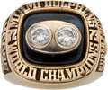 Football Collectibles:Uniforms, 1973 Miami Dolphins Super Bowl VIII Championship Ring Presented to Offensive Tackle Wayne Moore.. ...