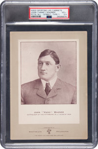 1902 W600 Sporting Life Honus Wagner Street Clothes Type 1 PSA VG+ 3.5