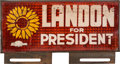 Political:Miscellaneous Political, Landon & Knox: A Most Unusual Reflector License PlateAttachment. ...
