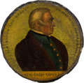 Political:3D & Other Display (pre-1896), Zachary Taylor: Papier Mâché Snuff Box with Color Portrait. ...