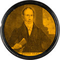Political:3D & Other Display (pre-1896), Henry Clay: A Superb Near Mint Lacquered Papier Mâché Snuff Box....