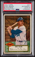 Autographs:Sports Cards, Signed 1952 Topps #37 Duke Snider (Black Back) PSA/DNA Auto GradeNM-MT 8. ...