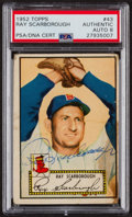 Autographs:Sports Cards, Signed 1952 Topps #43 Ray Scarborough PSA/DNA Auto Grade NM-MT 8. ...
