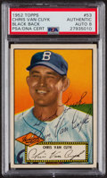 Autographs:Sports Cards, Signed 1952 Topps #53 Chris Van Cuyk (Black Back) PSA/DNA Auto Grade NM-MT 8. ...