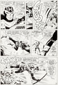Original Comic Art:Panel Pages, Don Heck Avengers #33 Page 10 Hawkeye Original Art (Marvel,1966)....