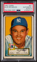 Autographs:Sports Cards, Signed 1952 Topps #67 Allie Reynolds PSA/DNA Auto Grade NM-MT 8. ...