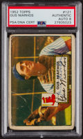 Autographs:Sports Cards, Signed 1952 Topps #121 Gus Niarhos PSA/DNA Auto Grade NM-MT 8. ...
