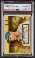 Autographs:Sports Cards, Signed 1952 Topps #148 Johnny Klippstein PSA/DNA Auto Grade NM-MT8. ...
