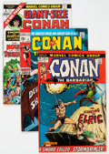 Bronze Age (1970-1979):Adventure, Conan the Barbarian Group of 23 (Marvel, 1971-79) Condition: Average FN+.... (Total: 23 Comic Books)