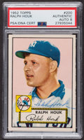 Autographs:Sports Cards, Signed 1952 Topps #200 Ralph Houk PSA/DNA Auto Grade NM-MT 8.. ...