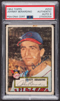Autographs:Sports Cards, Signed 1952 Topps #253 Johnny Berardino PSA/DNA Auto Grade NM-MT 8....