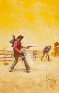 Original Comic Art:Covers, John Duillo (attributed) - Western Paperback Novel Cover PaintingOriginal Art (undated)....