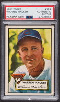 Autographs:Sports Cards, Signed 1952 Topps #324 Warren Hacker PSA/DNA Auto Grade NM-MT 8. ...