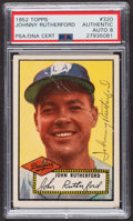 Autographs:Sports Cards, Signed 1952 Topps #320 John Rutherford PSA/DNA Auto Grade NM-MT 8. ...