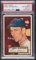 Autographs:Sports Cards, Signed 1952 Topps #344 Ewell Blackwell PSA/DNA Auto Grade NM-MT 8....