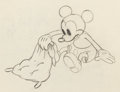 Animation Art:Production Drawing, Mickey's Nightmare Mickey Mouse and Babies AnimationDrawings Group of 2 (Walt Disney, 1932). ... (Total: 2 )