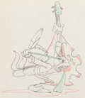 Animation Art:Production Drawing, Woodland Cafe Grasshopper Animation Drawing (Walt Disney, 1937). ...