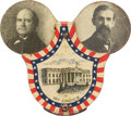"Political:Pinback Buttons (1896-present), Bryan & Kern: Jugate Lithographed Tin ""My Choice"" Mechanical Badge...."