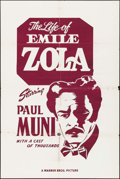 "Movie Posters:Academy Award Winners, The Life of Emile Zola (Warner Brothers, R-1950s). Silk Screen One Sheet (27"" X 41""). Academy Award Winners.. ..."