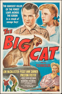 "The Big Cat (Eagle Lion, 1949). Folded, Fine+. One Sheet (27"" X 41""). Adventure"
