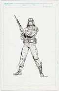 Ron Wagner G.I. Joe, A Real American Hero #115 Dusty Illustration Original Art ( Comic Art