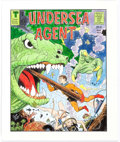 Original Comic Art:Covers, Frank Bolle Undersea Agent Cover Re-Creation Original Art(c. 1990s)....