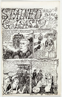 "Dame Darcy Meat Cake #4 Complete 8-Page Story ""Stained Glass"" Original Art (Fantagraphics, 1995).... (Total: 8..."