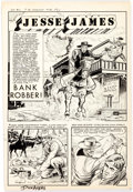Original Comic Art:Splash Pages, Dick Ayers and Ernie Bache Badmen of the West #2 Splash PageOriginal Art (Magazine Enterprises, 1954)....