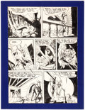 Original Comic Art:Panel Pages, Bob Fujitani Pep Comics #44 Story Page 7 Original Art(Archie Comics, 1943)....