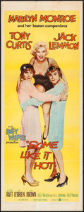 """Movie Posters:Comedy, Some Like It Hot (United Artists, 1959). Insert (14"""" X 36"""").Comedy.. ..."""