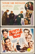 "Movie Posters:Mystery, Secrets of Scotland Yard & Other Lot (Republic, 1944). HalfSheets (2) (22"" X 28"") Style A. Mystery.. ... (Total: 2 Items)"