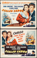 "Movie Posters:War, Sealed Cargo (RKO, 1951). Half Sheets (2) (22"" X 28"") Styles A& B. War.. ... (Total: 2 Items)"