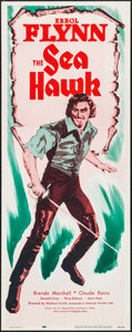 """Movie Posters:Swashbuckler, The Sea Hawk (Dominant Pictures, R-1956). Insert (14"""" X 36""""). Swashbuckler.. ..."""