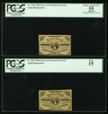 Fractional Currency:Third Issue, Fr. 1226 3¢ Third Issue Two Examples PCGS Graded.. ... (Total: 2notes)