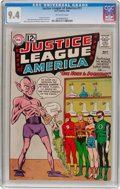 Silver Age (1956-1969):Superhero, Justice League of America #11 (DC, 1962) CGC NM 9.4 Off-white pages....
